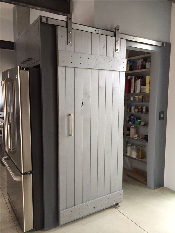 Sliding Barn Door Unfinished Door Was Sealed Stained