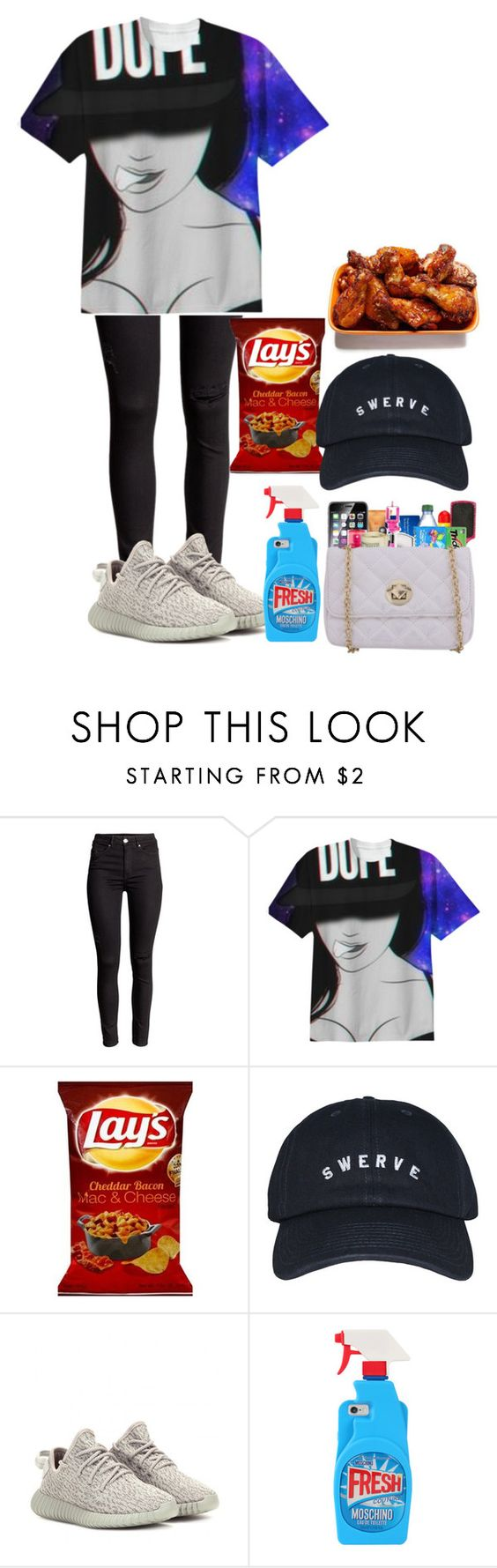 """""""Swerve"""" by cyberth-ts on Polyvore featuring adidas Originals and Moschino"""