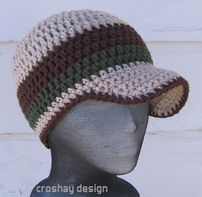 Free Crochet Pattern Beanie With Brim : crochet beanie hats patterns with photos How To Crochet ...