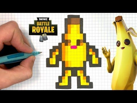 Chadessin Pixel Art Fortnite Youtube Pixel Art Dessin