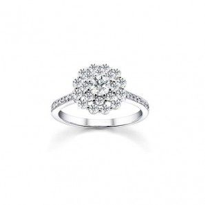 Cluster Flower Ring in Sterling Silver - Assorted Sizes