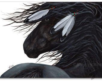 Plumas de caballo majestuosos negro semental por AmyLynBihrle