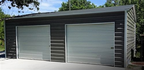 20x21 Boxed Eave Metal Garage Alan S Factory Outlet Garage Door Design Garage Door Styles Garage Doors