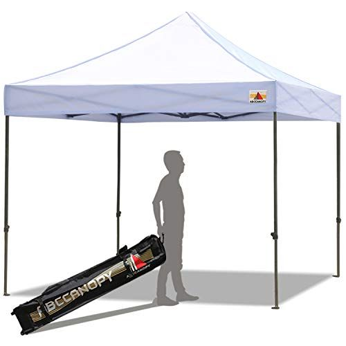 Abccanopy Pop Up Canopy 10x10 Ft Commercial Instant Canopy Kit With Carrying Bag 30 Colors For Your Choice White Pop Up Canopy Tent Canopy Tent Camping Canopy