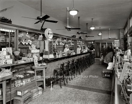 Old Peoples Drug Store Soda Fountain Ice Cream Malts