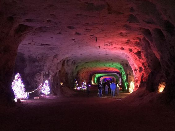 The Christmas Cave 2020 Christmas Cave, White Gravel Mines, Minford, Ohio in 2020