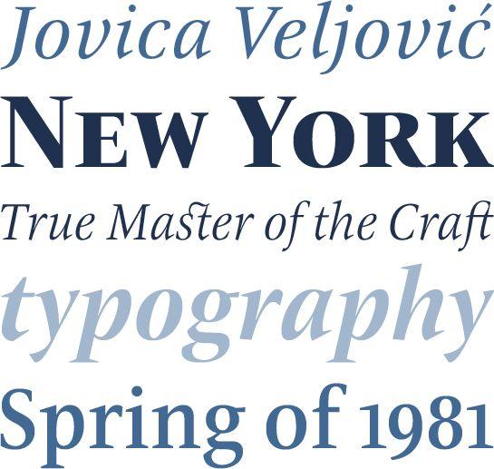 ITC New Veljovic #Typografie