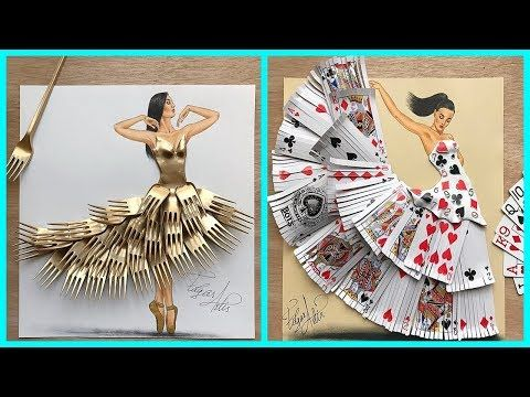 30 Most Creative Dress Designs Using Everyday Objects Youtube Everyday Objects Creative Designer Dresses