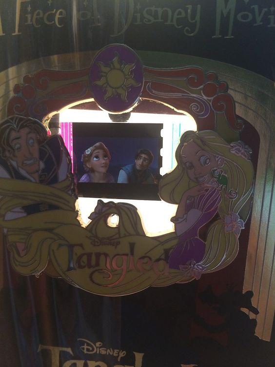 Disney Piece of Movies PODM History Tangled Rapunzel Flynn Boat Film Cel Pin