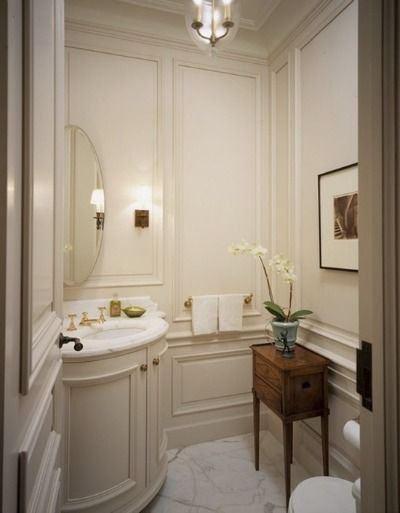 Good life of design designing a small guest bathroom to - Small powder room decorating ideas ...