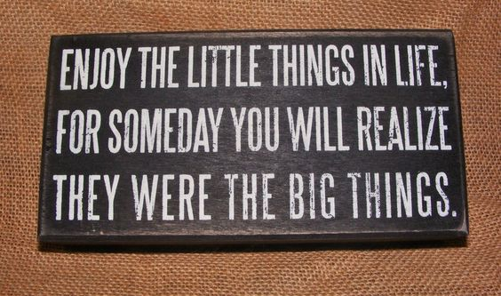 """Box Sign """"Enjoy the Little Things""""   •Wooden Box Sign with hollow back featuring Inspirational Quotation •Measures 8"""" X 4"""" •Featured wording: """"Enjoy the little things in life for someday you will realize they were the big things"""" •Displays well on the wall or a shelf •FREE SHIPPING!"""