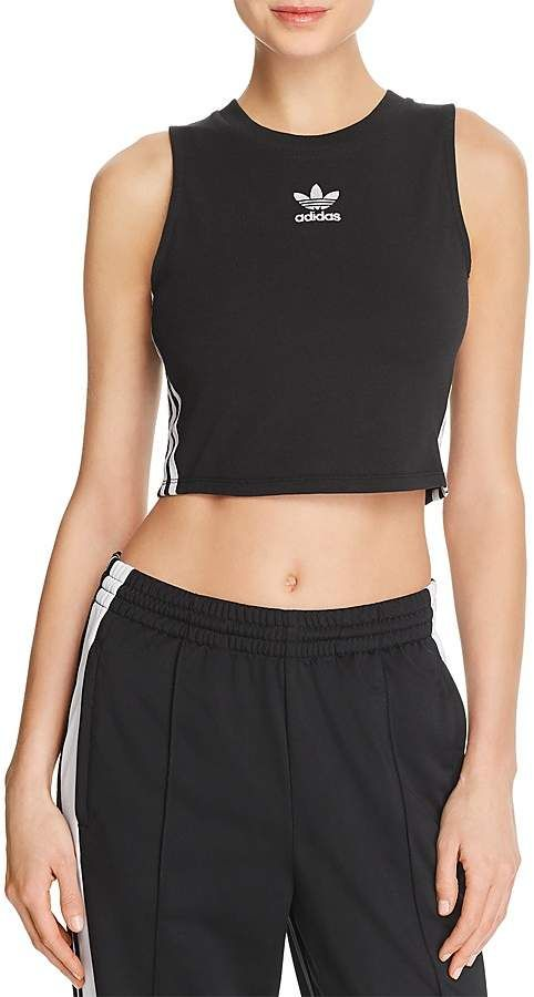 toma una foto Cambio pastel  adidas Originals Striped Cropped Tank Women - Bloomingdale's | Sporty  outfits, Outfits with leggings, Adidas crop top