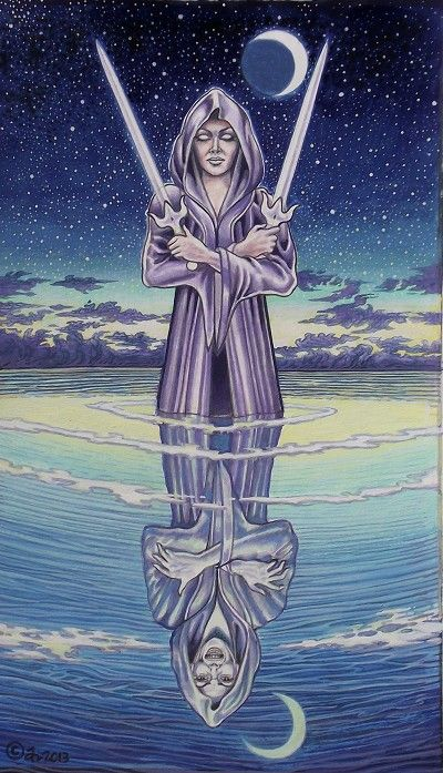 The Sacred Isle Tarot ~ Two of Swords