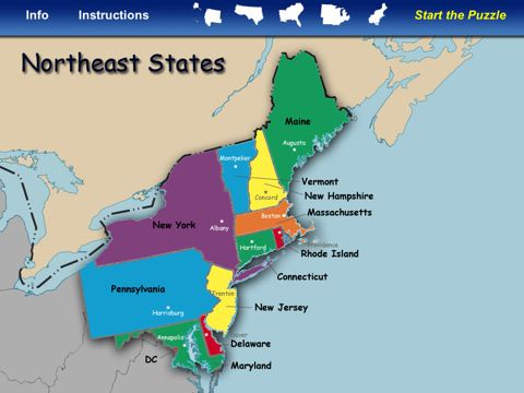 Northeast United States Map north eastern us map states ...
