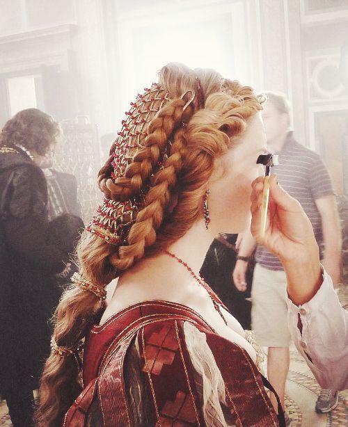 Italian Renaissance inspired hair from The Borgias