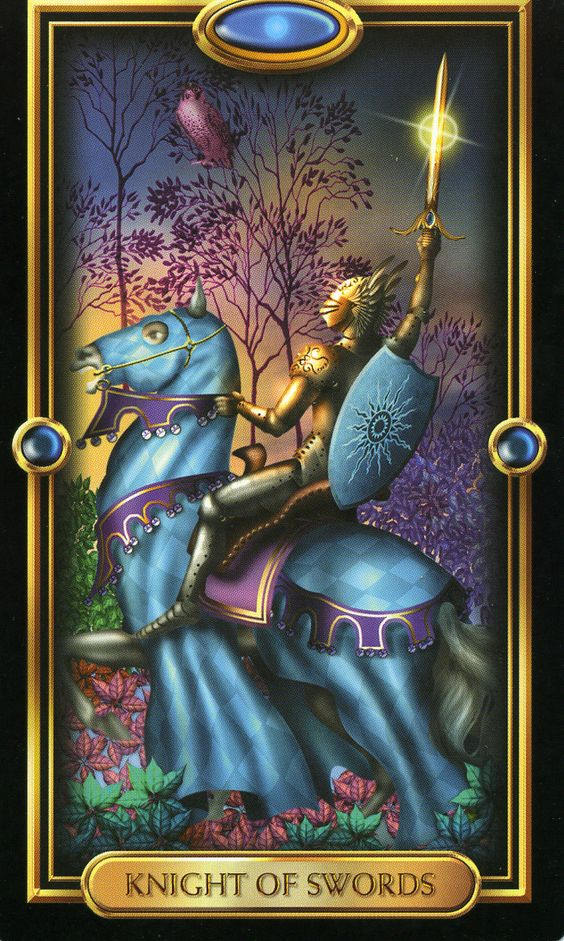 6/14/14 Knight of Swords Keywords: opinionated, hasty, action-oriented, communicative Astrological correlation: 3rd decan of Taurus and 1st and 2nd decan of Gemini