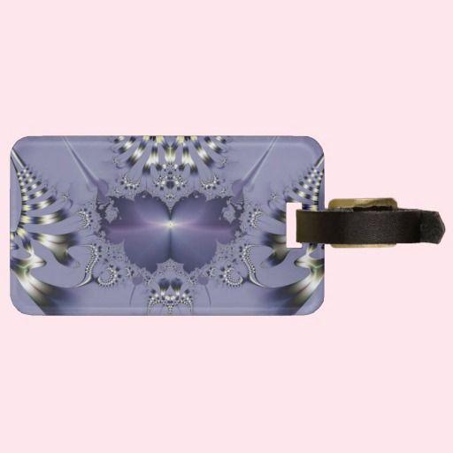 #Purple #Flower #Luggage #Tags - #Customized