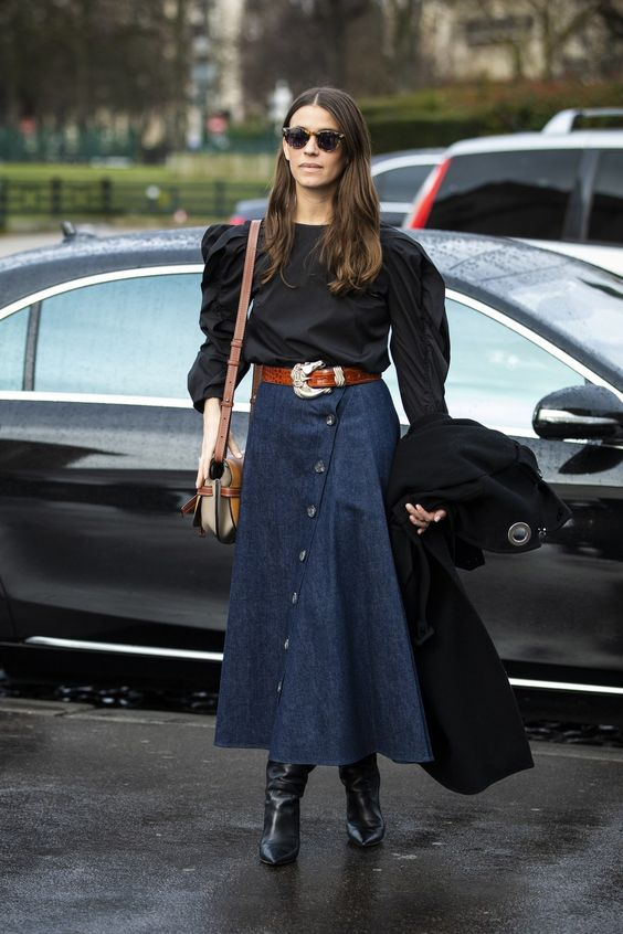 Street style: 12 denim trends spotted outside the Fall/Winter 2019-2020 fashion shows