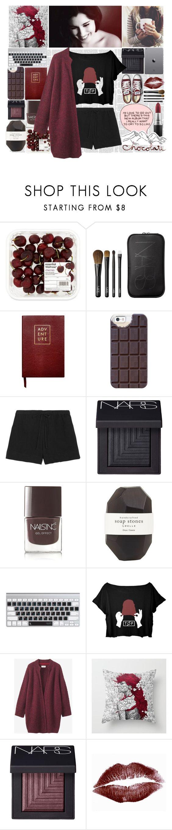 """What Fresh Hell Is This"" by nsrogsy3 ❤ liked on Polyvore featuring NARS Cosmetics, Sloane Stationery, Casetify, Converse, Skin, Nails Inc., Pelle, Toast, MAC Cosmetics and AllYallRachet"