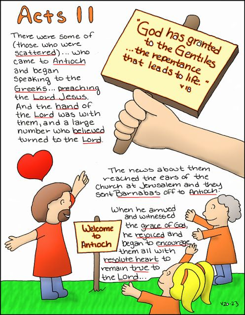 Doodle Through The Bible: Acts 11 Free coloring page and PNG elements available at the website :)