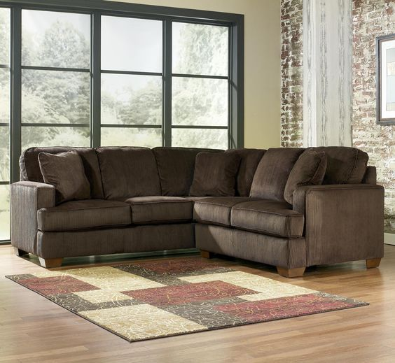 Chocolate 2-Piece Sectional With Left Arm Facing