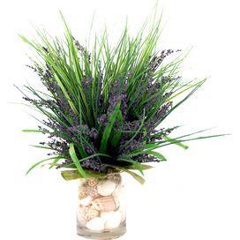 Faux Purple Heather & Shells