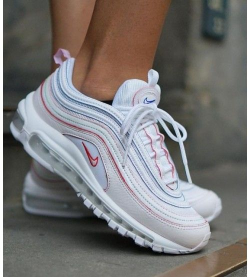 nice shoes official supplier best prices Nike Air Max 97 SE Femme Blanche/Blanche/Bleu Rouge | Basket nike ...