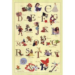 Disney alphabet poster