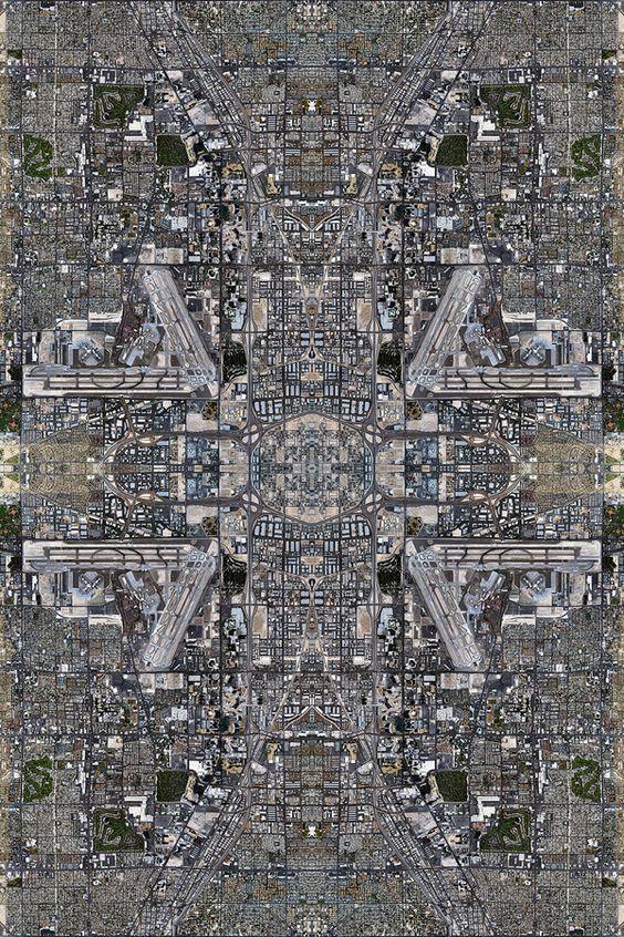 Kaleidoscopic  version of Las Vegas