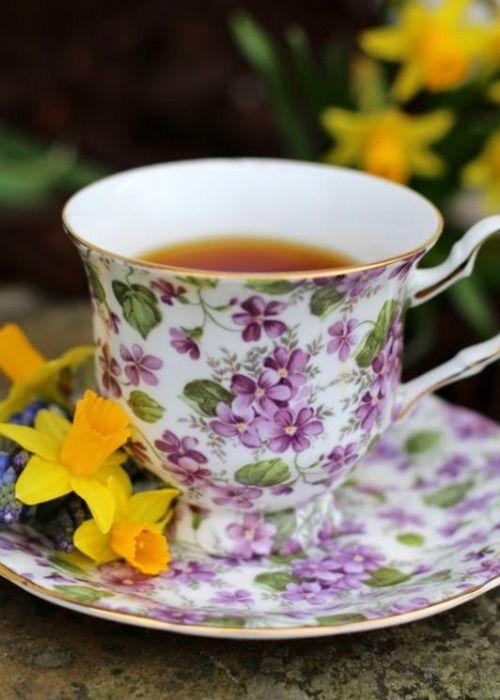 Букет открытках, чай утро открытки
