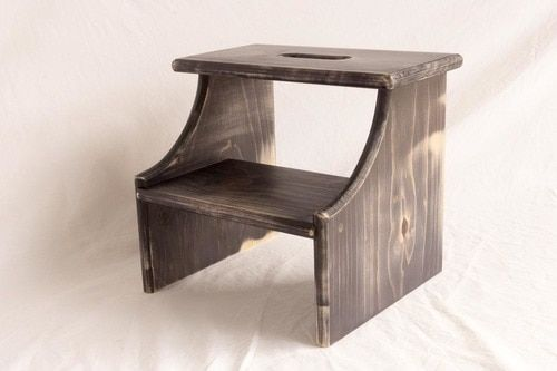 Step Stool Wooden Pine 2 Steps 12 High Wooden Steps Stool Kids Stool