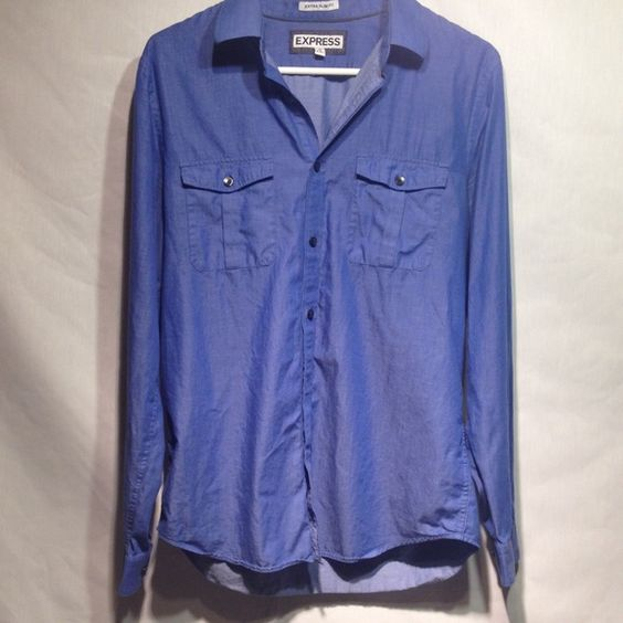 Men's medium Extra Slim Fit 15-151/2 neck Very nice, great looking shirt waiting to go out on the town Express Tops