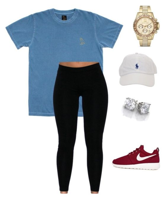 """LIKE AND I WILL FOLLOW "" by layshalove ❤ liked on Polyvore featuring October's Very Own, NIKE and Michael Kors"