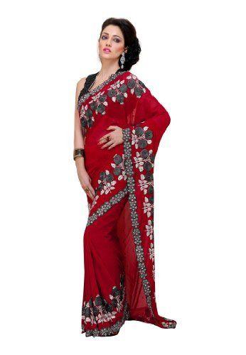 Fabdeal Indian Designer Georgette Black Embroidered Saree Fabdeal, http://www.amazon.de/dp/B00INWMMN0/ref=cm_sw_r_pi_dp_bm7otb14Q4TGS