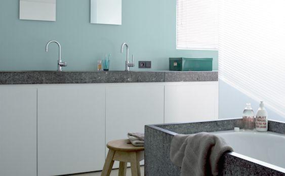 Repeindre le carrelage de sa salle de bain création Pinterest - Peindre Du Carrelage Mural De Cuisine