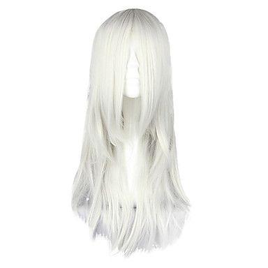 Harajuku Style Cosplay Synthetic Wig Inuyasha Hakutoshi Straight Long Wig(White)
