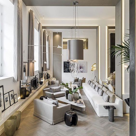 Modern interior design projects kelly hoppen project for Interior design inspiration
