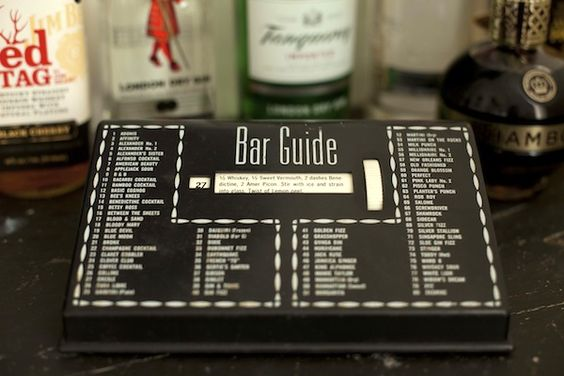 Vintage bar guide. I remember the one Uncle Earl had...