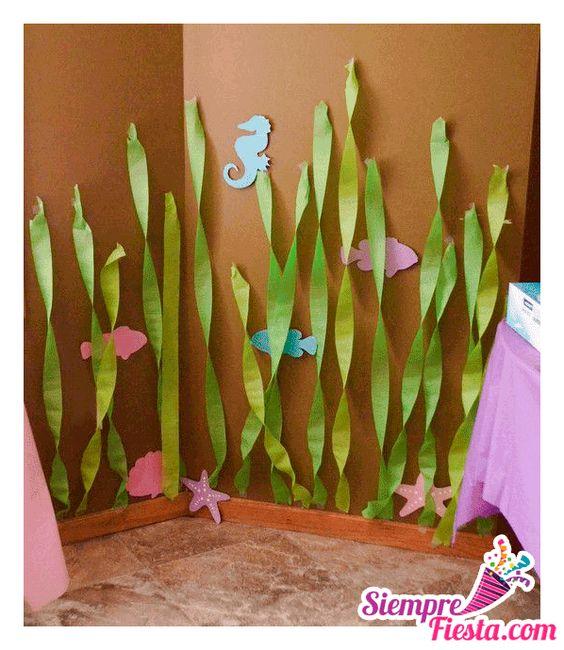 Increíbles ideas para una fiesta de cumpleaños de la Sirenita. Encuentra todos los artículos para tu fiesta en nuestra tienda en línea: http://www.siemprefiesta.com/fiestas-infantiles/ninas/articulos-la-sirenita.html?limit=all&utm_source=Pinterest&utm_medium=Pin&utm_campaign=Sirenita