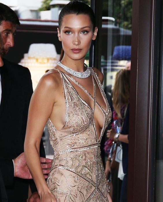 In the Name of Beauty - Another breathtaking shot of ‪Bella Hadid‬ in ‪#‎CavalliCouture‬ by ‪#‎PeterDundas‬ at the 69th ‪‎Cannes Film Festival‬.