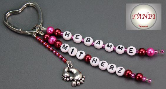 Taschenanhänger Hebamme Nr. 15 von TANBI-mommies auf DaWanda.com