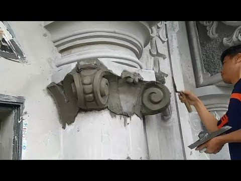 Relief Wall Sculpture Carving Construction Art With Cement And Sand On House Wall Youtube Cement Art Ceramic Texture Sand Sculptures