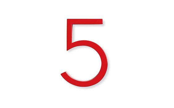 Neutra house numbers in red things pinterest products house and