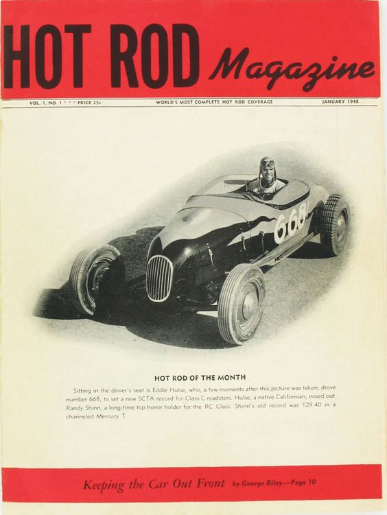 This is the cover of the very first issue of HOT ROD Magazine, January, 1948. See every HOT ROD cover at http://www.hotrod.com/whereitbegan/hrdp_0803w_1940_hot_rod_covers/