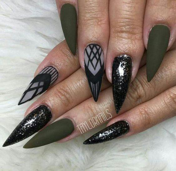 60 Best Stiletto Nails Designs Trendy For 2020 Stiletto Nails