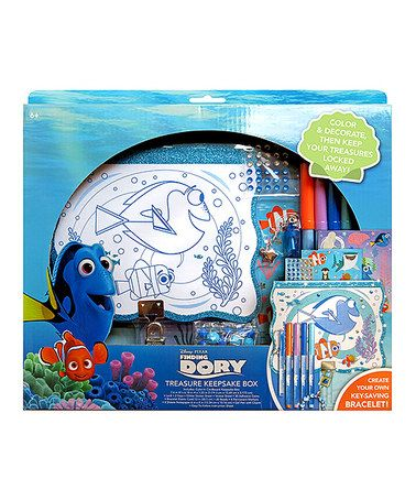 This Finding Dory Treasure Keepsake Box Set is perfect! #zulilyfinds