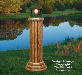 Large Landscape Timber Lighthouse Wood Plan gardens Pinterest