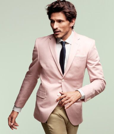 H cotton and linen blazer: Ss Menswear, Linen Blazer, Chest Pocket, Colored Blazer, Blazers For Men, Classic Men, Pink Blazers