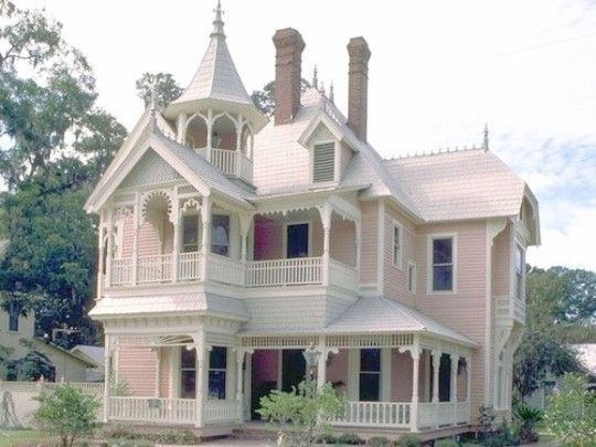 Faengeℓia Victorian Homes Pink Houses Victorian Style Homes