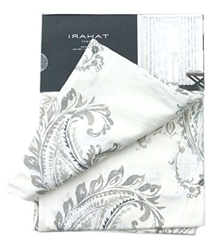 Curtains Ideas 115 inch curtains : Tahari Home Paisley Scrolls Window Panels 52 by 96-inch Set of 2 ...